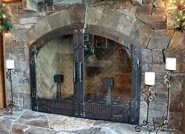 fireplace door hardware fireplace glass door brackets