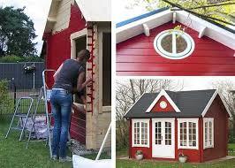 Optimal für farbige anstriche geeignet; Gartenhaus Streichen Schutz Pflege Durch Farbbehandlung