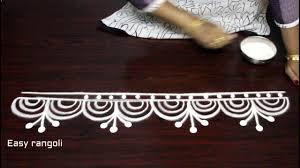 How To Draw Rangoli Border Designs Step By Step Kolam
