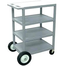 outdoor tv cart with wheels diy serving g gray 4 shelf rear big x stands on outdoor tv cart