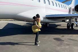 Kourtney Kardashian after first flight ...