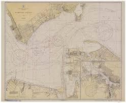 Thames River Ct Depth Chart Hampton Roads 1930 Nautical Map Virginia Harbors 400 Reprint