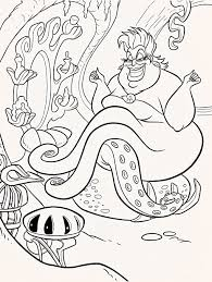 Ursula Coloring Pages Free Online Printable