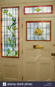 looking out front door. Decorative Edwardian Stained Glass Front Door Taken From Interior Looking Out British Housing London E