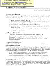 Critical Care Nursing Resume It Resume Cover Letter Sample