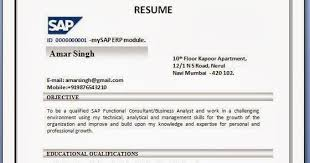Sap Abap Fresher Resume Doc Sap Abap Sample Resumes Physic