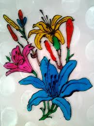 Beautiful Flower Designs For Glass Painting Explore Your Talent Glass Painting Beautiful Flowers
