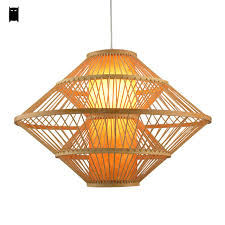 rattan pendant lighting. big bamboo wicker rattan pendant light fixture asia korean rustic country hanging ceiling lamp suspended luminaire lighting