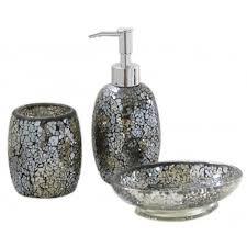gold crackle bathroom accessories. sparkle - mosaic bathroom set / soap dish dispenser beaker black gold: amazon.co.uk: kitchen \u0026 home gold crackle accessories a