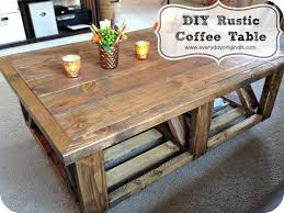 rustic coffee table finished once they finished building