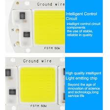 20-50W LED Floodlight COB Chip 220V Input Integrated Smart IC ...