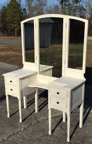 vintage vanity dressing table with tri fold mirror