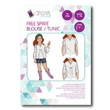 Tunic Pattern Free Unique Free Spirit Blouse Tunic Sewing Pattern Tadah Patterns Sewing