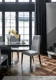 grey upholstered dining chairs lovely upholstered in grey fabric with black piping the borgia dining of