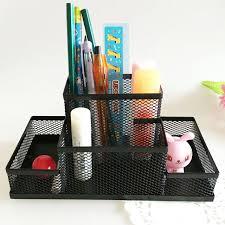 mesh cube metal combination desktop study storage office organizer supplies desk accessories stand for pens pencils