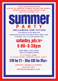 Political Event Flyer Ocyr Summer Party Oc Political