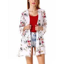 Walmart Womens Size Chart Plus Size Womens Kimono Cardigan Coat Blouse Tops Floral Print Half Sleeve Casual Cardigan Beach Cover Up
