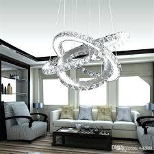 house chandelier modern led crystal chandelier led ring diamond pendant lamps lighting for beach house bedroom