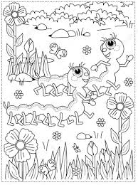 This clipart image is transparent backgroud and png format. Printable Worms In Flowers Garden Coloring Page For Both Aldults And Kids