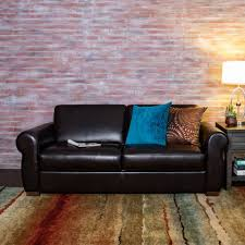 brown leather sleeper sofa full pull