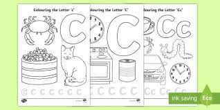 This coloring pages is a online coloring pages for kids to color on the computer screen. Letter C Colouring Pages Teacher Made