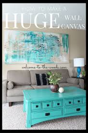 How to make a HUGE wall canvas for decor in your living room! DIY this