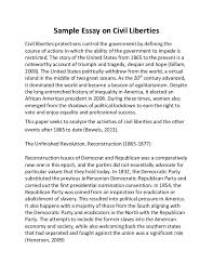 sample essay on civil liberties sample essay on civil liberties civil liberties protections control the government by defining the course of