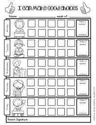 Positive Behavior Support Weekly Sticker Chart For Good