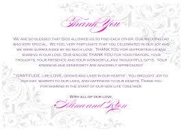 Wedding Thank You Card Wording Cloveranddot Com