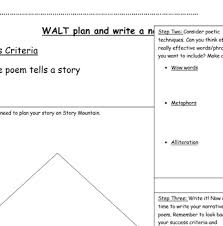 Narrative Poetry Planning Frame And Rubric By The Eduhacker Tpt