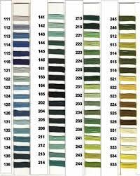 Soie D Alger Colour Chart Soie Dalger Selection By Dmc Reference