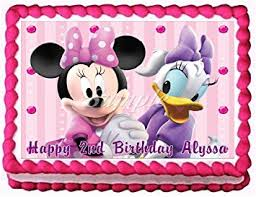 Amazon Minnie Mouse and Daisy Duck Edible Frosting Sheet Cake