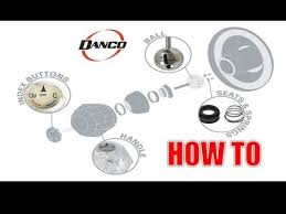 danco how to repairing a single handle tub shower ball type faucet