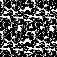 Bape Pattern Interesting Vinyl Stencils Overspray Collection
