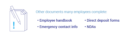 Employee Hire Forms Key Forms To Review During New Employee Orientation