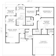 open plan living 5956nd architectural designs house plans