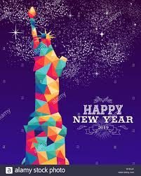 Happy new year 2019 greeting card or poster design with colorful ...