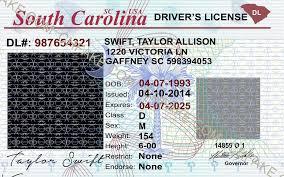 Identification Carolina Fake Buy South Template Id Scannable