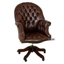 leather swivel office chair. Image Is Loading Chesterfield-Directors-Swivel-Office-Chair-Antique-Brown- Leather Swivel Office Chair H