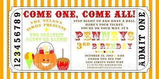 Carnival Party Invitation Templates Free Invites Birthday Sample