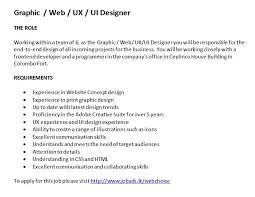 Ux Designer Job Description. Ui Ux Designer Resume Do Not Use One ...