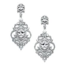 cubic zirconia chandelier earrings scrolls silver platinum plated cubic wedding chandelier s nadri cubic zirconia chandelier earrings