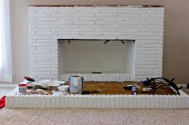 painted white brick fireplaceDIY Fireplace Overhaul Part 2  Homemade Food Junkie