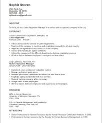 generic resume objective berathen com - General Objective Statement Resume