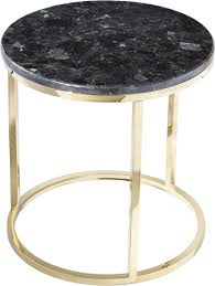 round gilded steel side table with
