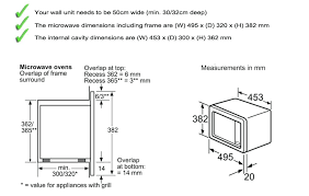 Microwave Size Chart Microwave By Dimensions Downloadmore Co
