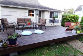 While decks are typically built with cement footings buried into the  ground, an alternative system designed for do-it-yourselfers is to use a  pier deck ...