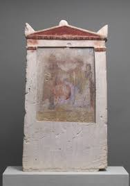 death burial and the afterlife in ancient essay   painted limestone funerary stele a w in childbirth