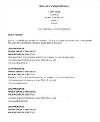 Chronological Resume Template Delectable Format Of Chronological Resume Modern Chronological Resume Template