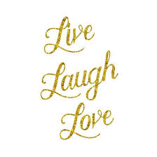 Live Laugh Love Quotes Extraordinary Live Laugh Love Gold Faux Foil Glittery Metallic Quote Isolated Art